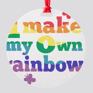 I make my own rainbow Round Ornament
