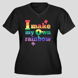 I make my ow Women's Plus Size Dark V-Neck T-Shirt