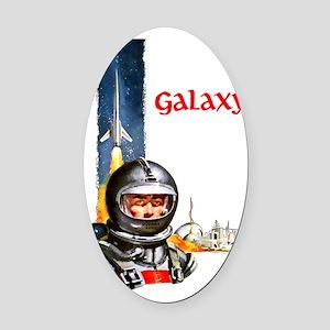 Galaxy scifi vintage mug Oval Car Magnet