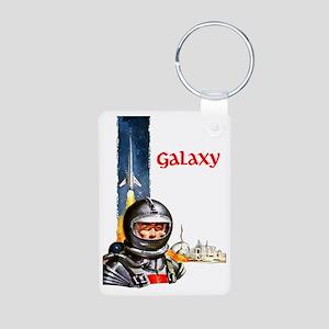 Galaxy scifi vintage mug Aluminum Photo Keychain