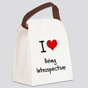 I Love Being Introspective Canvas Lunch Bag