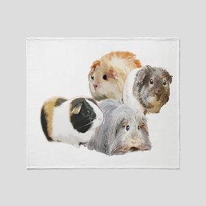 guinea pig kisses Throw Blanket