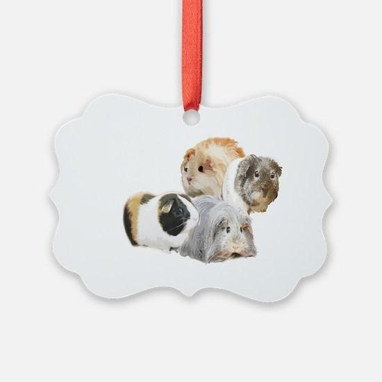 guinea pig kisses Ornament
