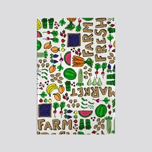 Farmers Market Medley Rectangle Magnet
