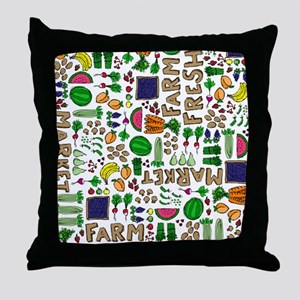 Farmers Market Medley Throw Pillow