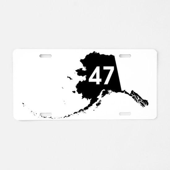 AK47 Aluminum License Plate