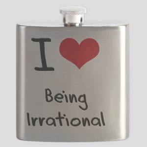 I Love Being Irrational Flask