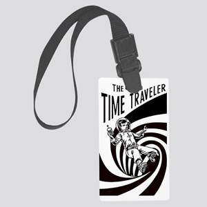 Time Traveler scifi vintage Large Luggage Tag