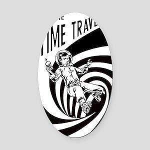 Time Traveler scifi vintage Oval Car Magnet