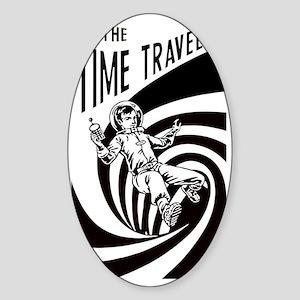 Time Traveler scifi vintage Sticker (Oval)