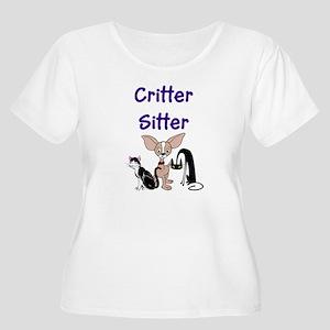 Pet Sitter Women's Plus Size Scoop Neck T-Shirt