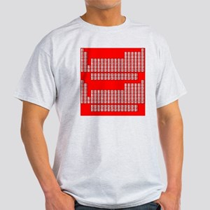 Deluxe Periodic Table (red) Light T-Shirt