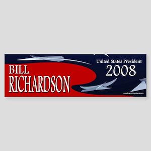 Bill Richardson 3-D Stars Bumper Sticker