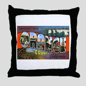 Orange County California Throw Pillow