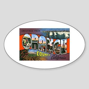 Orange County California Oval Sticker
