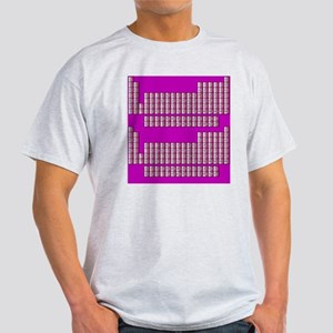 Deluxe Periodic Table (purple) Light T-Shirt