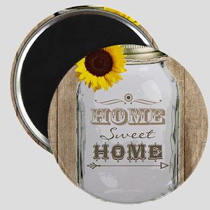 Home Sweet Home Rustic Mason Jar Magnet