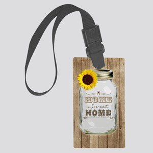 Home Sweet Home Rustic Mason Jar Large Luggage Tag