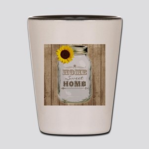 Home Sweet Home Rustic Mason Jar Shot Glass
