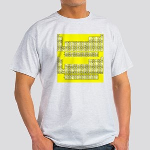 Deluxe Periodic Table (yellow) Light T-Shirt