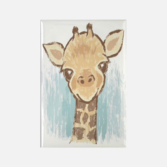 Sweet Giraffe Rectangle Magnet
