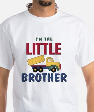 Little Brother Dump Truck White T-Shirt