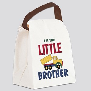 Little Brother Dump Truck Canvas Lunch Bag