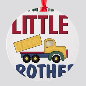 Little Brother Dump Truck Round Ornament