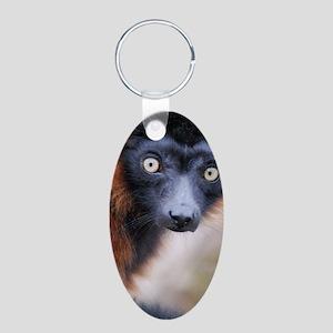 Red Ruffed Lemur iPhone/iTo Aluminum Oval Keychain