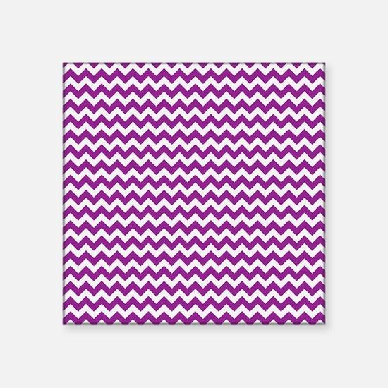 """Chevron Purple Square Sticker 3"""" x 3"""""""