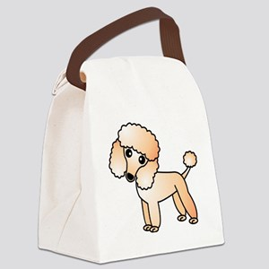 Cute Apricot Poodle Canvas Lunch Bag