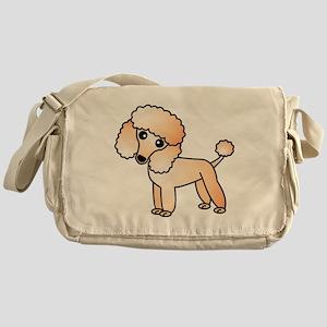 Cute Apricot Poodle Messenger Bag