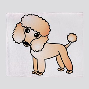 Cute Apricot Poodle Throw Blanket