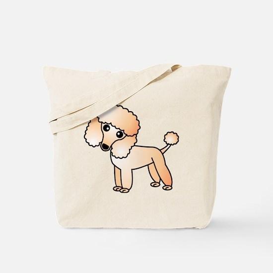 Cute Apricot Poodle Tote Bag
