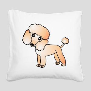 Cute Apricot Poodle Square Canvas Pillow