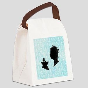 Queen and Corgi Canvas Lunch Bag