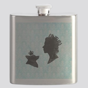 Queen and Corgi Flask