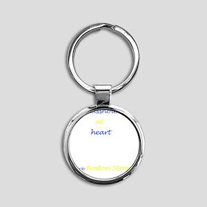 Boston Strong/Masshole Round Keychain