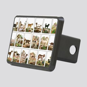 Dog Collection In Vintage  Rectangular Hitch Cover
