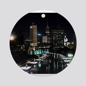 Moon-rise, Indianapolis Round Ornament