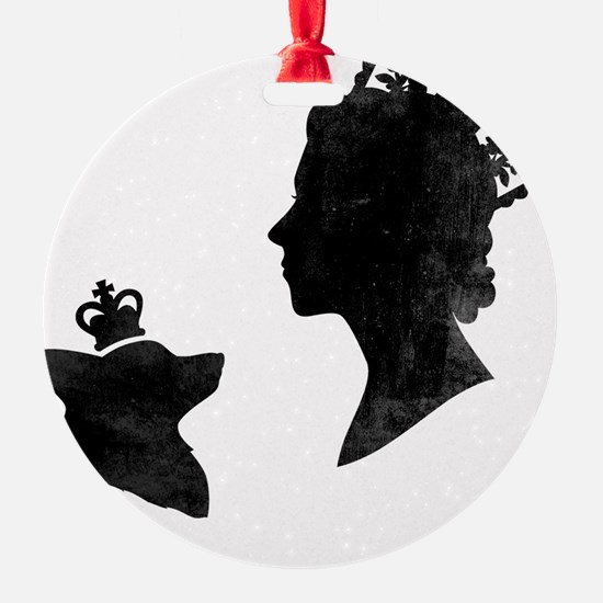 Queen and Corgi Ornament