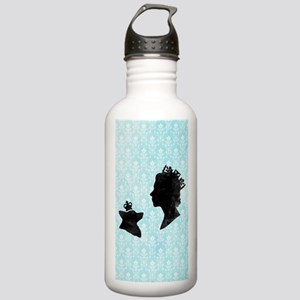 Queen and Corgi Stainless Water Bottle 1.0L
