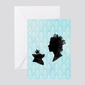 Queen and Corgi Greeting Card