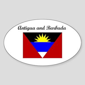 Antigua and Barbuda Oval Sticker