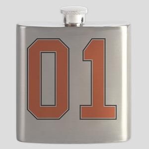 01 General Lee Dukes of Hazzard Car number Flask