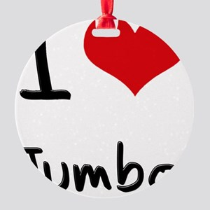 I Love Jumbo Round Ornament