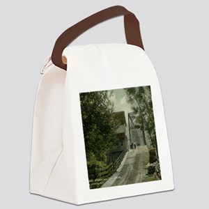 1911 Delaware Bridge and Toll Gat Canvas Lunch Bag