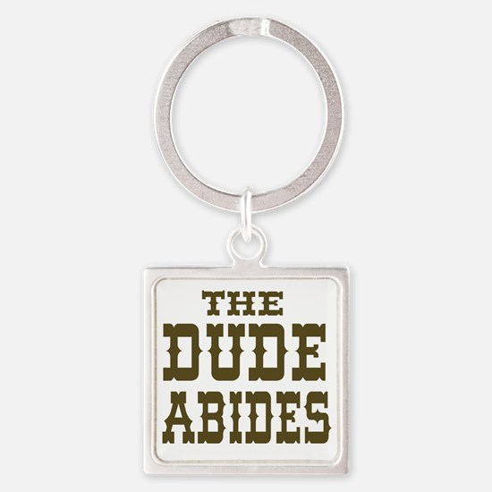 The Dude Abides Square Keychain