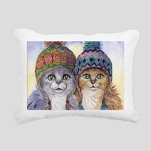The knitwear cat sisters Rectangular Canvas Pillow