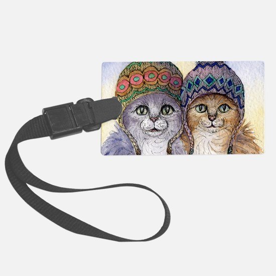The knitwear cat sisters Luggage Tag